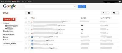 Google Drive UI Preview