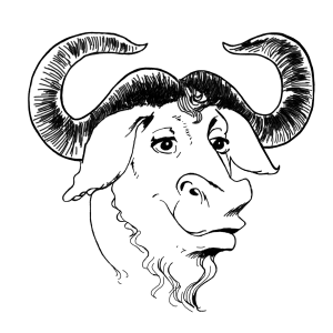 Logo del progetto GNU (Gnu-is-Not-Unix)