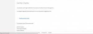 Un esempio di mail di phishing, ai danni delle poste.