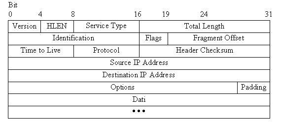 formato dei datagrammi ip